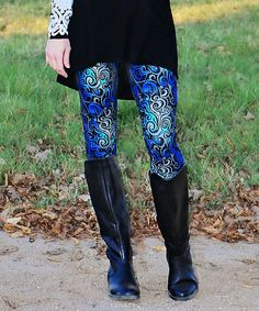 Loving this Mayah Kay Fashion Boutique Blue & Gray Moonlight Leggings - Women & Plus on #zulily! #zulilyfinds