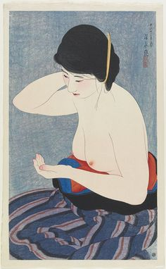 Artist: Ito Shinsui  Title:Makeup  Date:1922