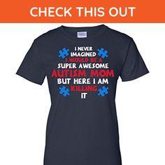 2017 Autism Awareness Mom, Navy, Small, G200L Gildan Ladies' 100% Cotton T-Shirt - Relatives and family shirts (*Amazon Partner-Link)