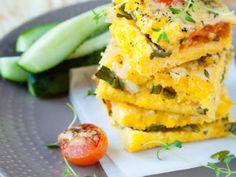 Cheesy Tomato Polenta Quiche