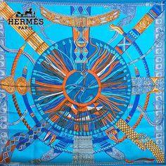 Hermes Scarf Shawl 100% Silk Carre 90 Ceintures et Liens AUTHENTIC #Hermes #Scarf