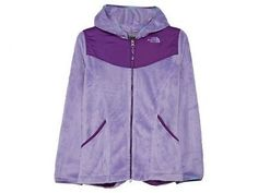 North Face Oso Hoodie Big Kids CDA1-N4R Violet Purple Fleece Hoody Girls Size M