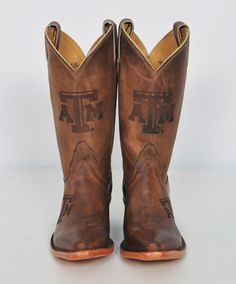Women's cowhide branded boots!  #TAMU #Aggies #cowgirl