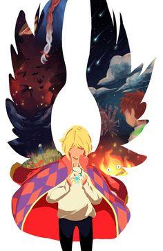 Howl's Moving Castle El castillo ambulante de Howl Anime <3 Hayao Miyasaki's Movie