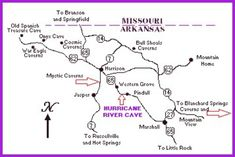 on arkansas caves map
