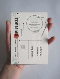 Invitation TORMIAR. Festiwal of Architecture and Design Visual Identity by Karolina Ryfka