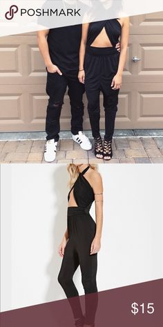 Forever 21 Halter Jumpsuit Forever 21 Halter Jumpsuit   Super cute! But my bf is not a fan of the crisscross Top area lol  Bought from another seller which she only wore once. Forever 21 Other