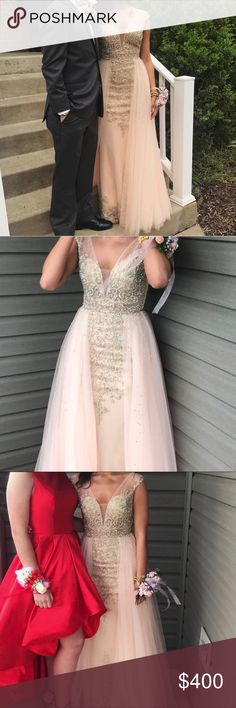 JVN by Jovani prom dress JVN by Jovani prom dress.. beautiful.. pink with gold details.. size 2 but could also fit a 4.. Only worn for one night(4 hours) Jovani Dresses Prom