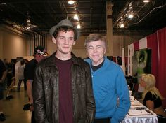 Original Star Trek Cast Meets Current Cast. Anton Yelchin (1989-2016) with Walter Koenig (an elite prep school grad).