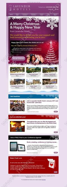 newsletter templates email design email marketing hospitality merry christmas lavender