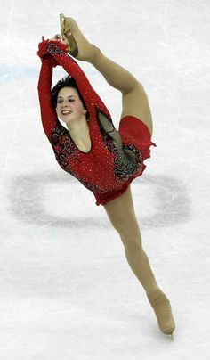 Irina Slutskaya is a four-time Russian National Champion, seven-time European Champion, two-time World champion (2002, 2005), and a two-time Olympic medalist (silver in 2002, bronze in 2006). Known for her athletic ability, she was the first female skater to land a triple lutz-triple loop combination. She is also known for her trademark double Biellmann spin with a foot change, which she invented. She is generally considered to be the most successful ladies' singles skater in Russian history...