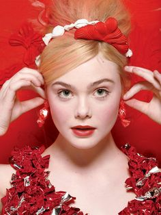 Elle Fanning embellished by Will Cotton for New York Magazine, Spring 2013 Fashion Issue