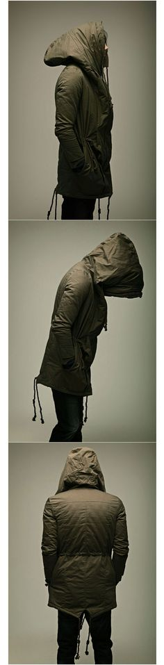 Outerwear :: ★SOLD-OUT★ Super-cozy Wire Big Hood Fishtail Parka -parka 01 - New and Stylish - Fast Mens Fashion - Mens Clothing - Product