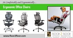 Fed up with the back pain caused by sitting long hours in office? Then it's the time to change your office chair to an ergonomic chair. Floor 2 Floor office furniture is back with high quality ergonomic executive office chairs at best price. Best Ergonomic Office Chair, Ergonomic Chair, Office Chairs Online, Executive Office Chairs, Office Furniture, Furniture Design, Mesh Office Chair, High Back Chairs, 2nd Floor