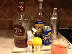 Ward Eight- 2 ounces bourbon, 1 ounce lemon juice, 1 ounce orange Crystal Light, 1 pkg Truvia, Dash of sf cherry syrup. Shake all together with ice, strain into cocktail glass.   This was pretty good.  I give it a 4 out of 5. Cherry Syrup, Low Carb Cocktails, Orange Crystals, Cocktail Glass, Pretty Good, Happy Hour, Bourbon, Low Carb Recipes, Shake