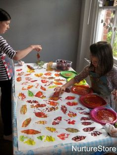 autumn leaf printing