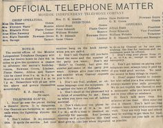 Telephone Don'ts from Nebraska, 1910 #telephone #etiquette #nebraska #phone