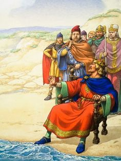 King Canute was sometimes called Cnut the Great. He was a Viking. Cnut was originally a Danish prince. He became king of England in 1016 after the Danish king chased away the weak English king, Ethelred, who had angered the Danes by attacking Viking families living in England. Canute was a good king and a strong ruler. Under his rule England prospered.The Viking raids on England stopped when Cnut became king. Ancestor