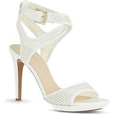 NINE WEST - Halden3 perforated heeled sandals | Selfridges.com