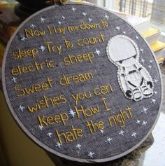 Marvin Night-time Embroidery. | Geek Crafts