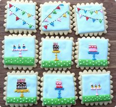 Love the pennant bunting pattern on these: cakecookies by Sugar & Meringue / E-A-T, via Flickr