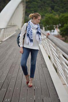 Valentino rockstud and Prada bag
