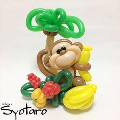 2018/1/19 Tropical Jungle - #毎日バルーン #トロピカルジャングル #モンキー #寒いのが嫌いなので #早い所暖かくなってほしい #切望 #バルーンアート #バルーン #風船 #猿 #さる #動物 #トロピカル #花 #かわいい #balloonart365 #tropical #monkey #flower #balloonart #balloontwisting #balloons #cute #instagood