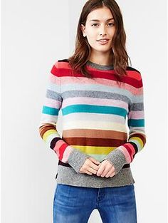 I know that I won't need this in CA, but I love the colors and stripes. Holiday stripe wool sweater