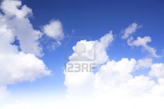 White Clouds 1 Stock Photo