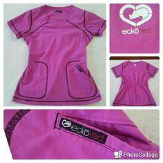 Pink Marc Ecko Brand Medical Scrub Top Pink Marc Ecko Brand Medical Scrub Top. Great Condition like New Marc Ecko Tops Tunics