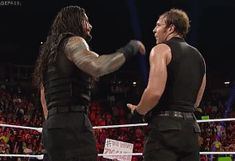 The Shield: Roman Reigns (L) and Dean Ambrose (R)