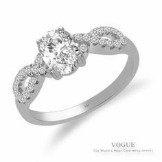 Mesmerizing 14K White Gold Diamond Engagement Ring!!! Love it.