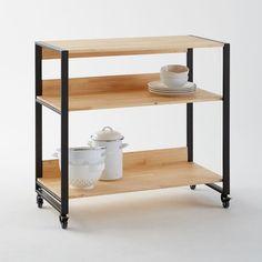 Meuble de bar en bois de sheesham massif l 132 cm meuble - Deplace meubles a roulettes ...