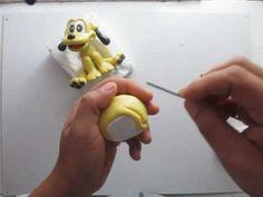 Pluto em biscuit para decoração de festa (parte 1/2)