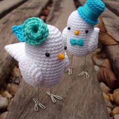 Crochet Birds very cute Crochet Bird Patterns, Crochet Birds, Easter Crochet, Love Crochet, Crochet Animals, Crochet Crafts, Crochet Baby, Crochet Projects, Knit Crochet