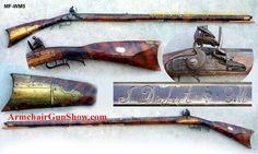Contemporary Makers: Plains Rifle by Shawn Webster Flintlock Rifle, Black Powder Guns, Longhunter, Long Rifle, Primitive Survival, Colonial America, Mountain Man, Guns And Ammo, India