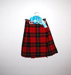 Vintage Skirt Scotland Wool Kilt by CheekyVintageCloset on Etsy, $22.00