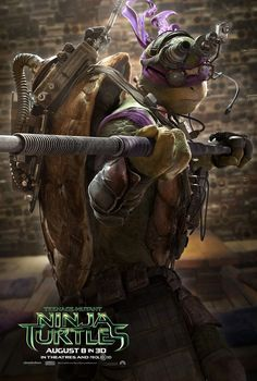 1 of 4 awesome posters for the upcoming Teenage Mutant Ninja Turtles movie! #nerdalert