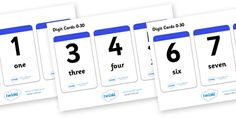 Twinkl Resources >> Number & Word Digit Cards 0-30  >> Thousands of printable primary teaching resources for EYFS, KS1, KS2 and beyond! math, numeracy, digit card, number recognition, number name, digits, names of numbers, 0-30, foundation numeracy,