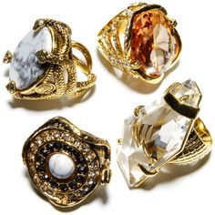 So much love for vintage cocktail rings. I would wear them ... not to cocktail parties.