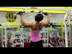 Dana linn bailey trains back at golds in nc killer back workout