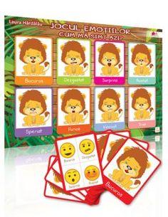 """Joaca-te cu copilul tau si invata-l sa recunoasca emotiile! """"Jocul emotiilor"""" este un material indragit de copii, cu ajutorul caruia putem sa-i implicam usor in activitati distractive pentru dezvoltarea inteligentei emotionale. Emo, Emo Style"""