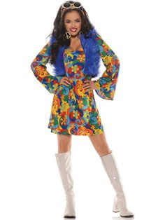 Check out Women's Sexy Groovy Blu Costume - Wholesale 60's Costumes for Adults from Wholesale Halloween Costumes