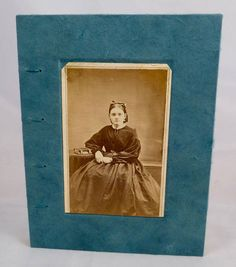 Seated Woman Vintage Photograph Hand-sewn Journal