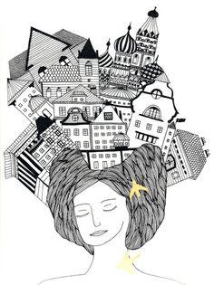 On my head Art Print