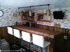 Garden room man cave Mos Bar, Pub/Entertainment from Garden owned by Stu Backyard Pavilion, Backyard Buildings, Backyard Bar, Rustic Outdoor Spaces, Outdoor Patio Bar, Garden Bar Shed, Summer House Garden, Diy Home Bar, Bars For Home