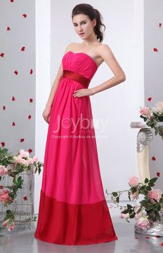 Floor Length Sweetheart Ruched Two Tone Chiffon Bridesmaid Dress £109.49