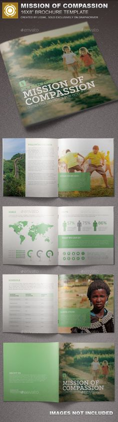 Mission of Compassion Church Brochure  #ministry #mission #Missionary • Available here → http://graphicriver.net/item/mission-of-compassion-church-brochure/15720719?ref=pxcr