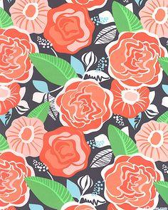 Honey Honey - Tea Rose fabric design by Kate Spain