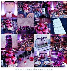 Purple And Red Wedding Something Like This To Add Pop You Dont Have A Lot Of Do It Though Notice The Two Shades Htt
